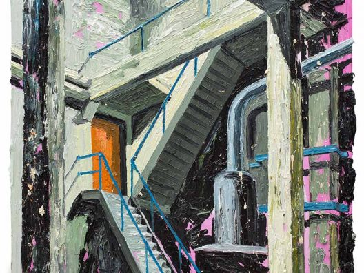 2014 Door to the studio 90 X 100 cm